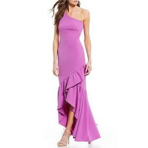 Vince Camuto Sz 14 Purple Maxi Ruffle Dress